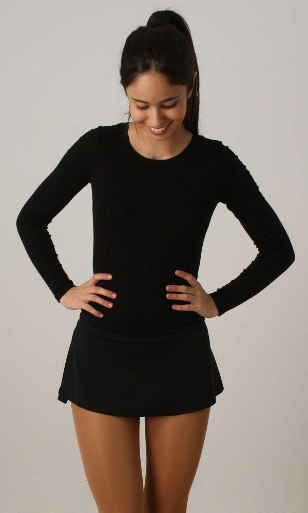 Falda Lisa Negra