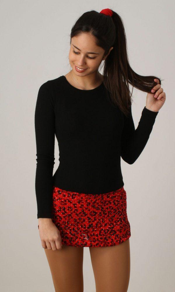 Falda Estampada Tigre/Rojo