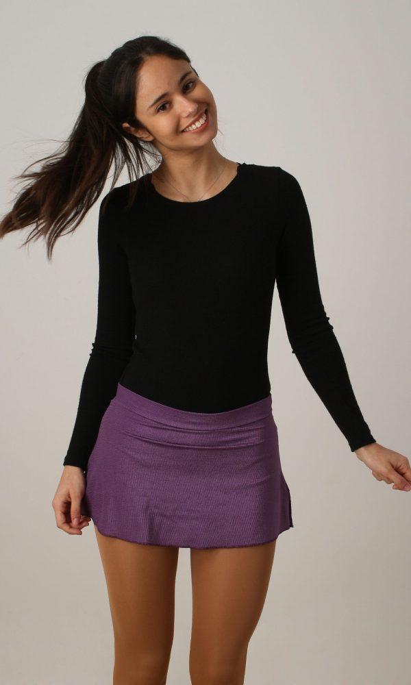 Falda estampada lila oscuro