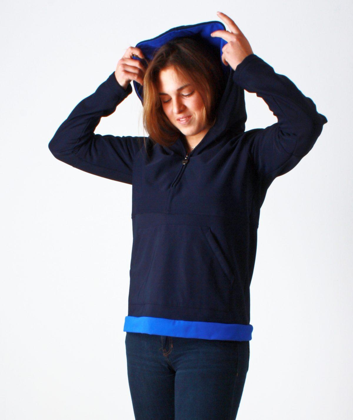 Hoddie Azul marino