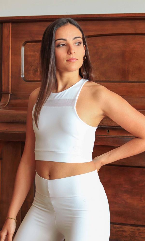 Top deportivo Elegance White