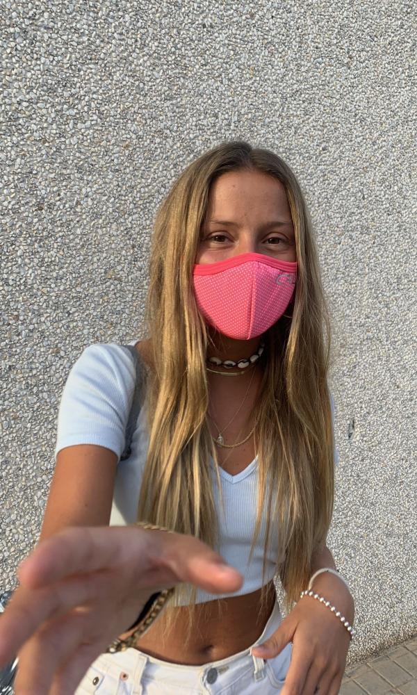 Máscara Topos pequeños Rosa