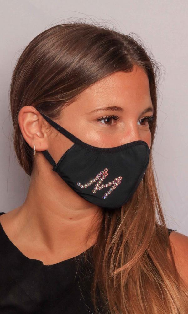 Máscara Negra con Brillantes Swarovski®