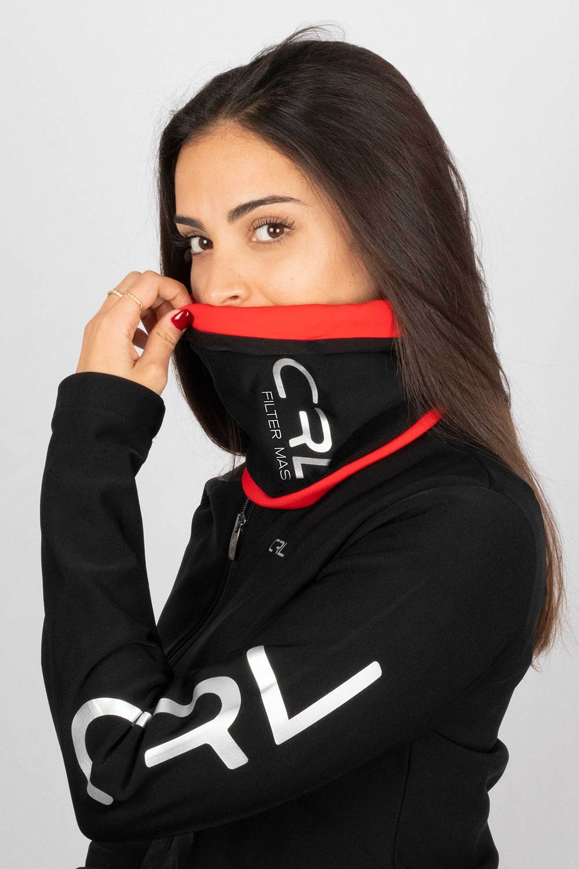Braga Cuello Filter Mask Thermolite® Rojo y Negro