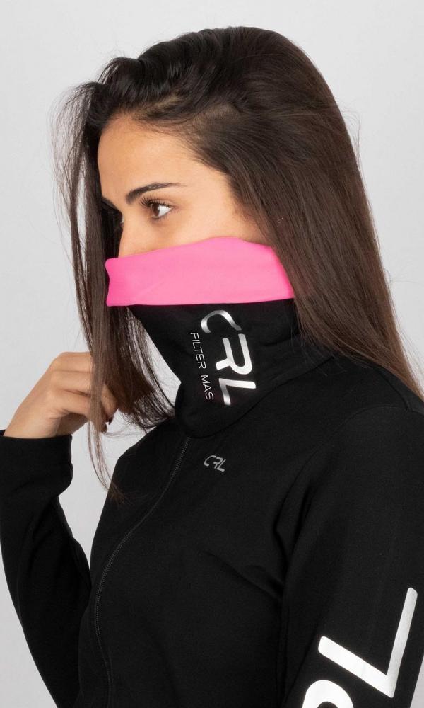 Braga Cuello Filter Mask Thermolite Rosa y Negro