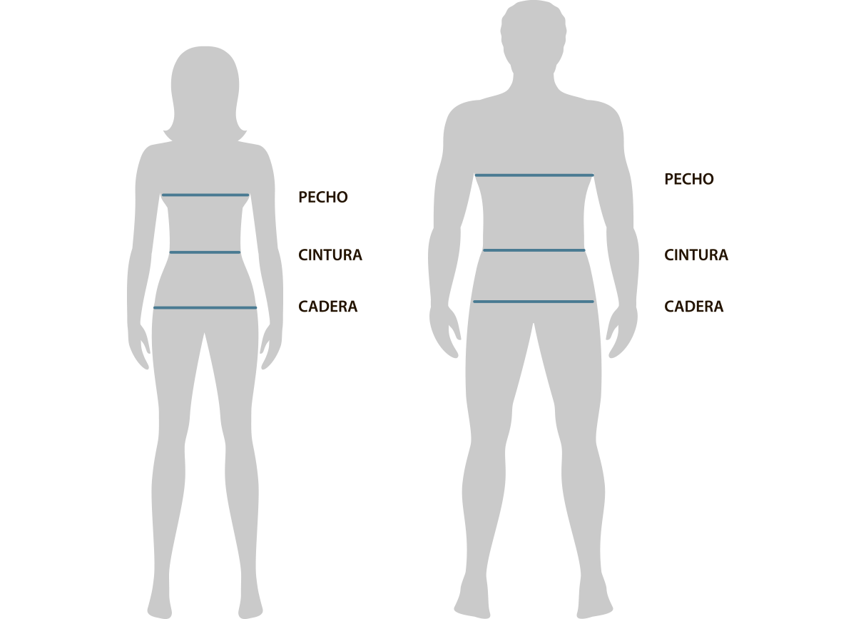 Guia de tallas adulto